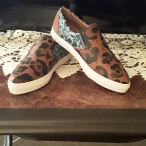 Coach Animal Print Loafers